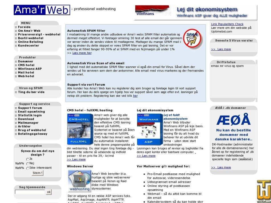 amarweb.dk Screenshot