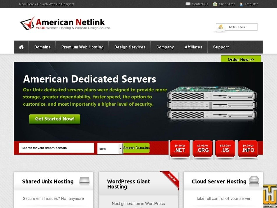 americannetlink.com Screenshot