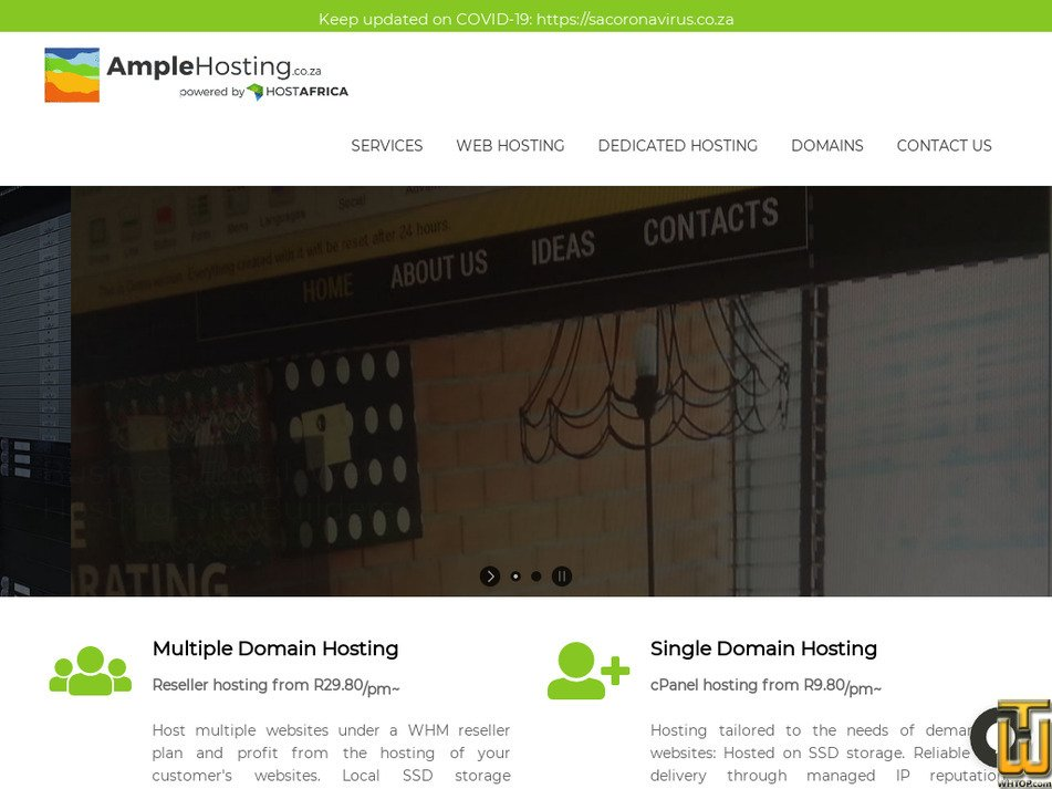 amplehosting.co.za Screenshot