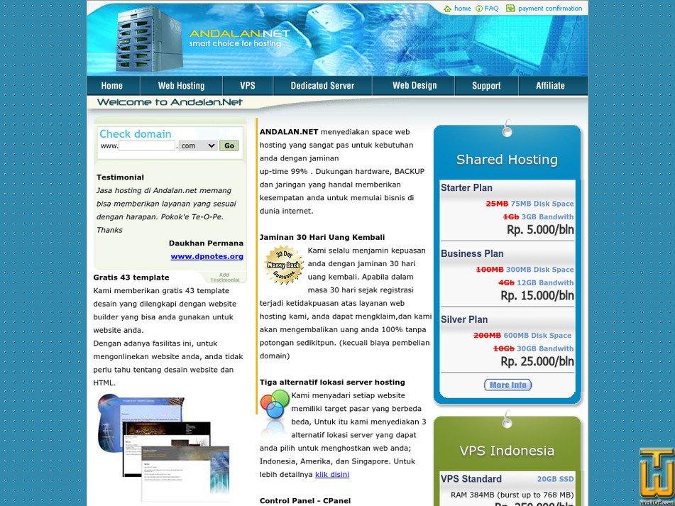 andalan.net Screenshot