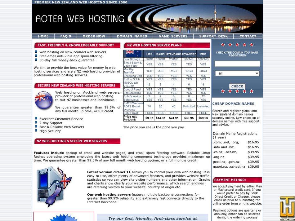 aotea.net Screenshot