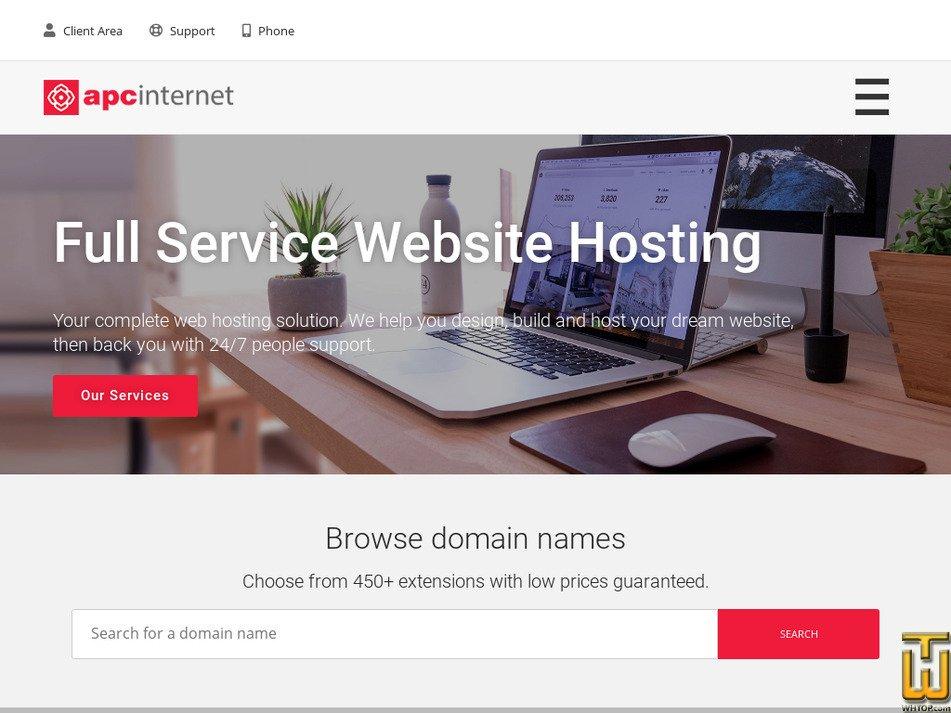 apcinternet.com Screenshot