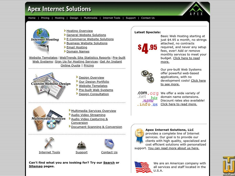 apex-internet.com Screenshot