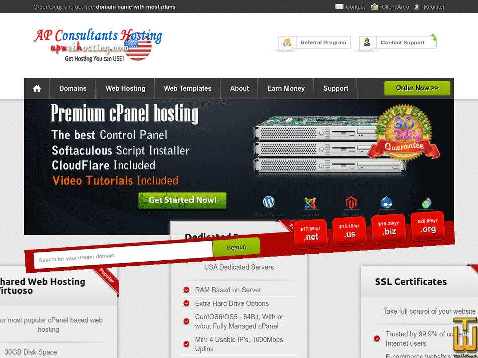 apwebhosting.com Screenshot