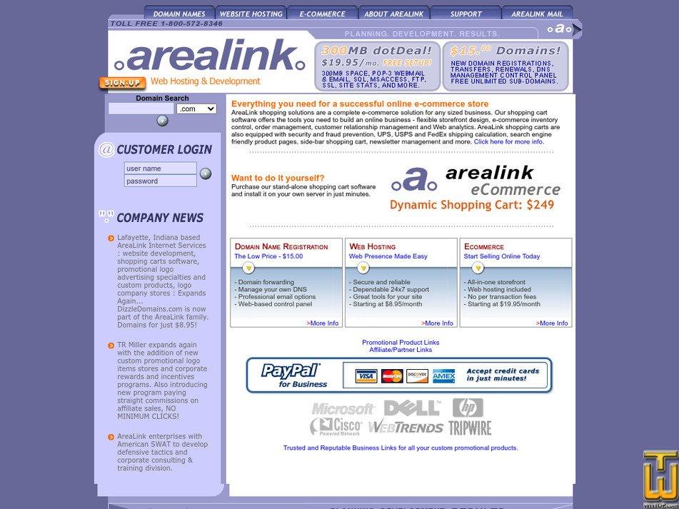arealink.com Screenshot