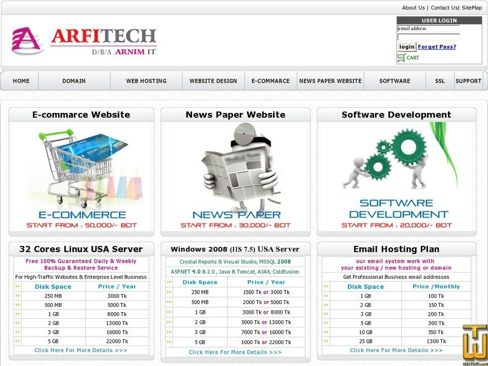 arfitech.com Screenshot