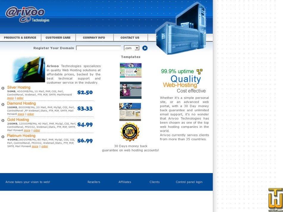 arivoo.com Screenshot