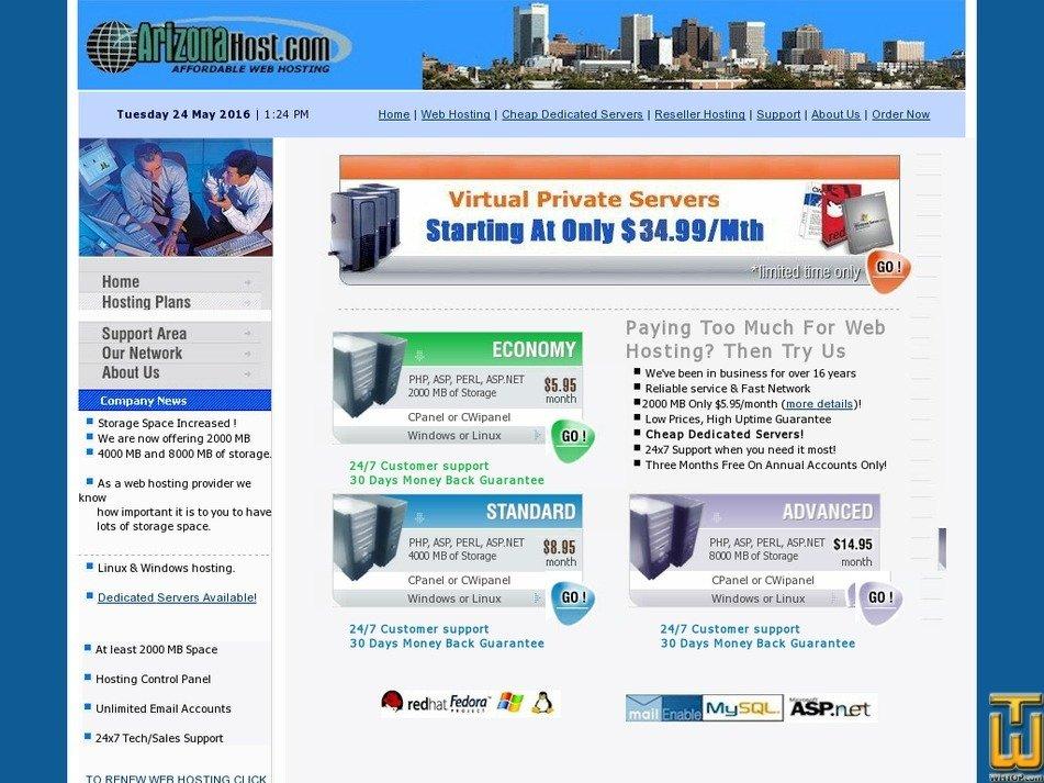 arizonahost.com Screenshot
