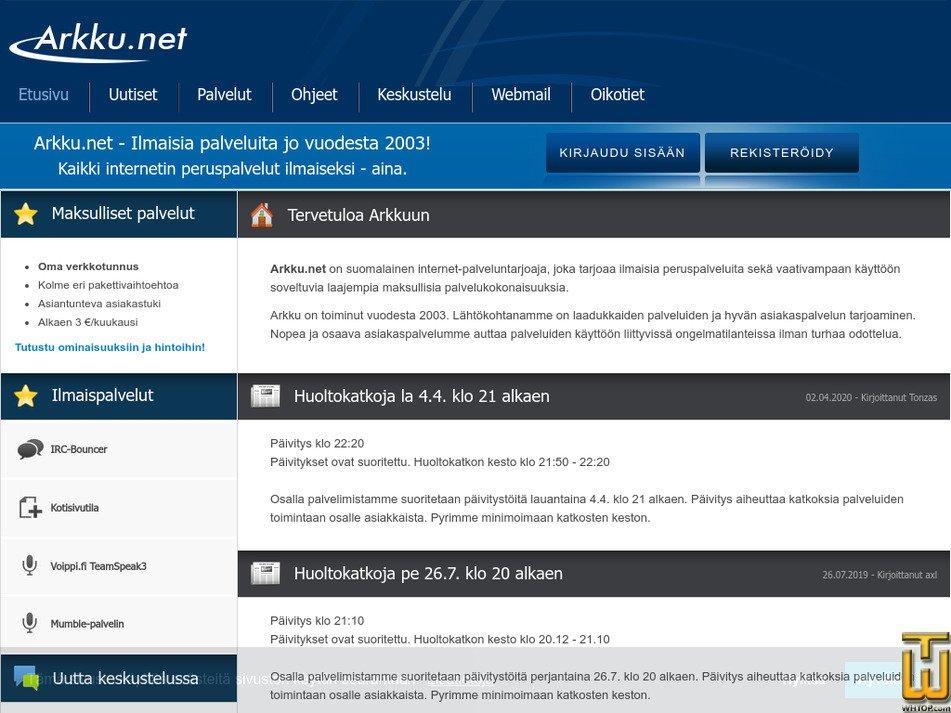 arkku.net Screenshot