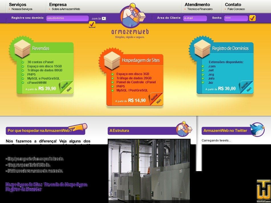 armazemweb.com Screenshot