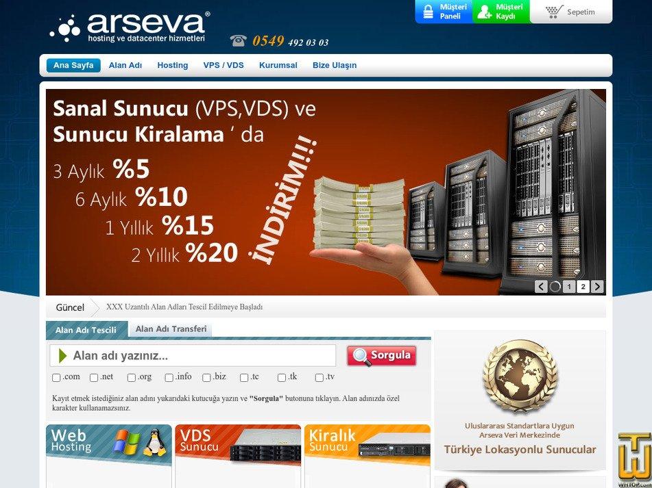 arseva.com Screenshot