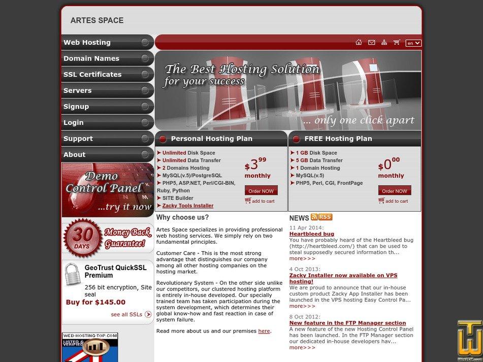 artesspace.com Screenshot