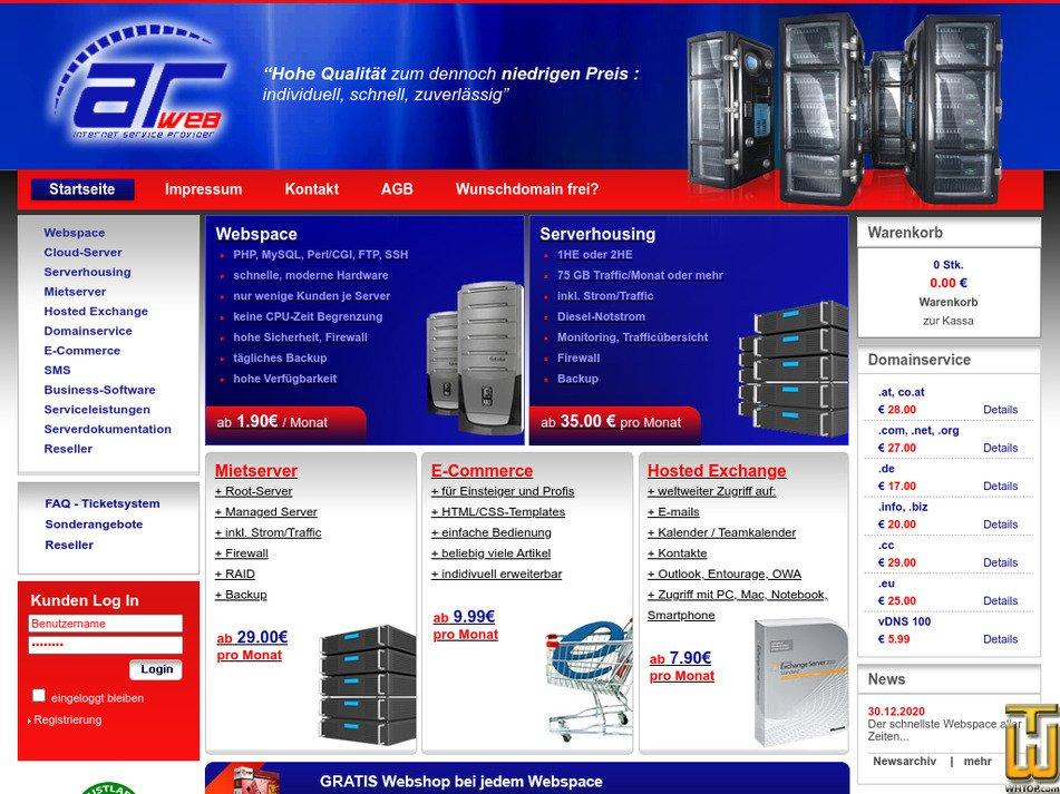 arweb.at Screenshot