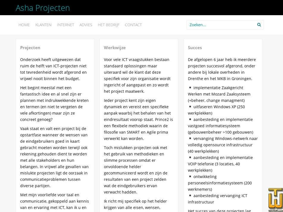 ashaweb.nl Screenshot
