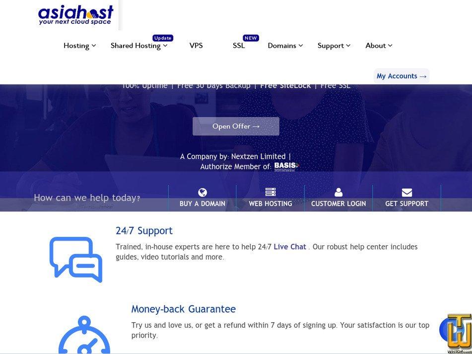 asiahostbd.com screenshot