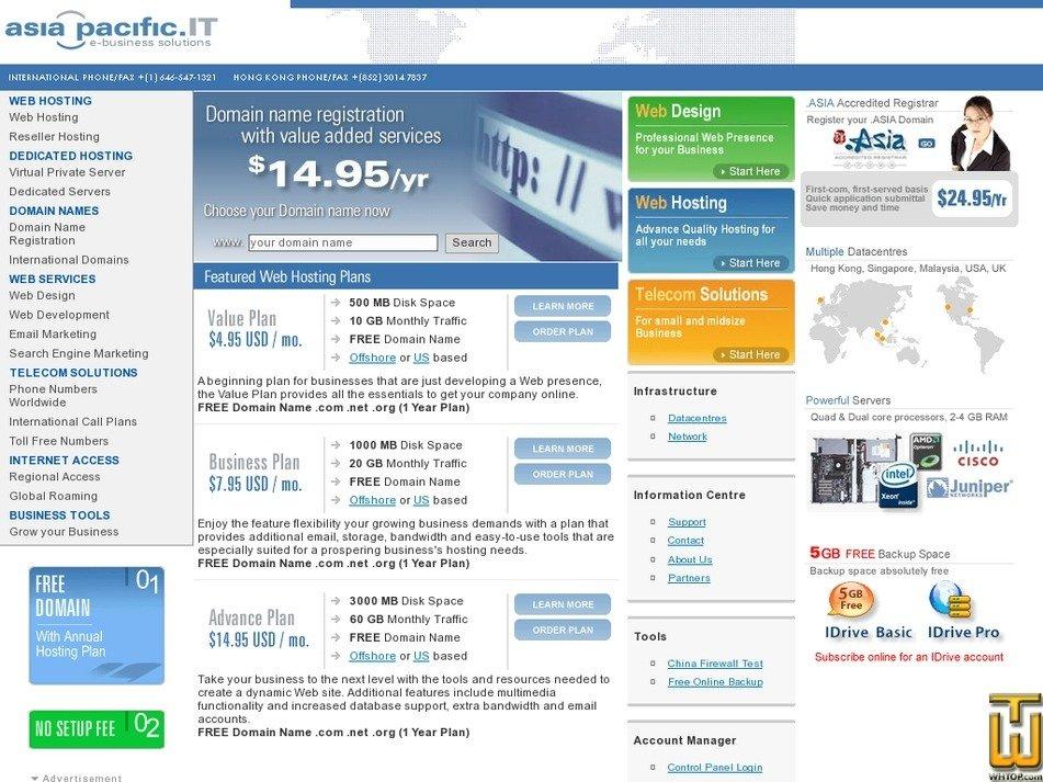 asiapacific-it.com Screenshot