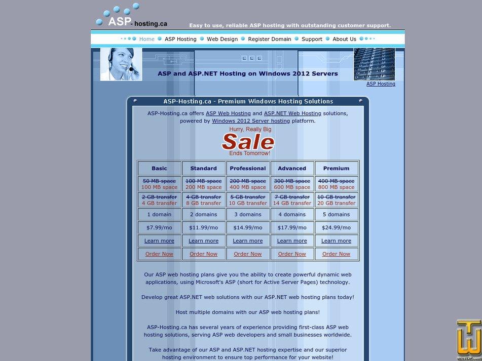 asp-hosting.ca Screenshot