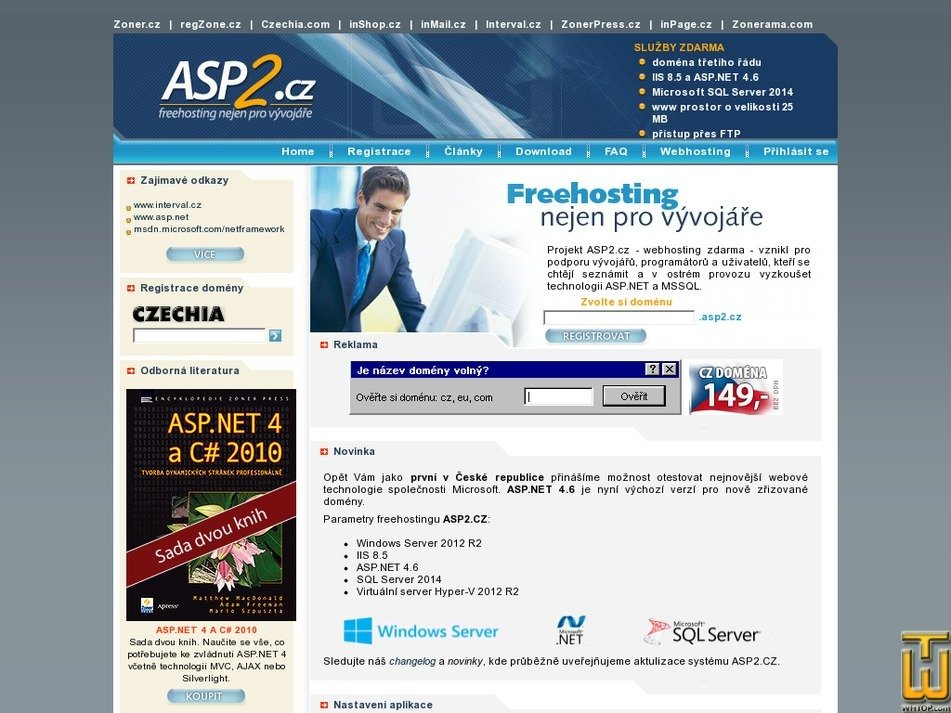 asp2.cz Screenshot