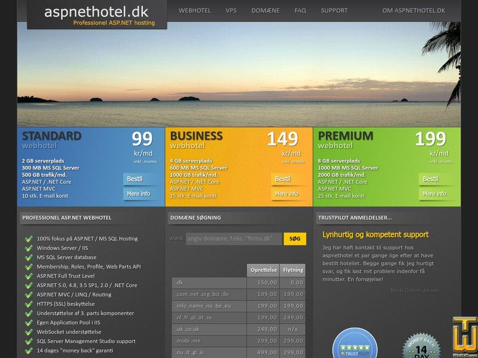 aspnethotel.dk Screenshot