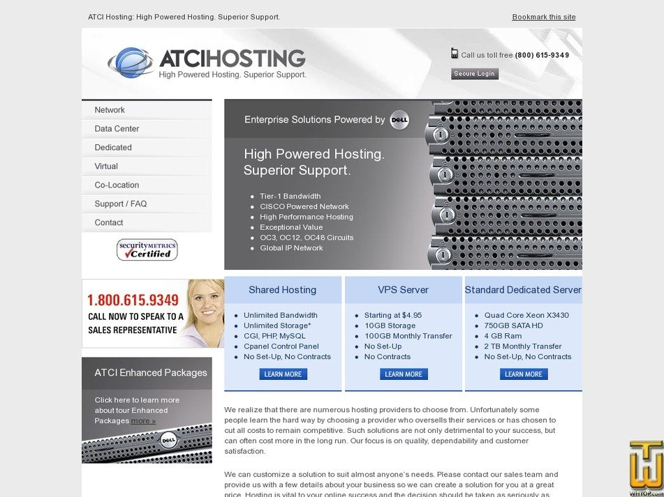 atcihosting.com Screenshot
