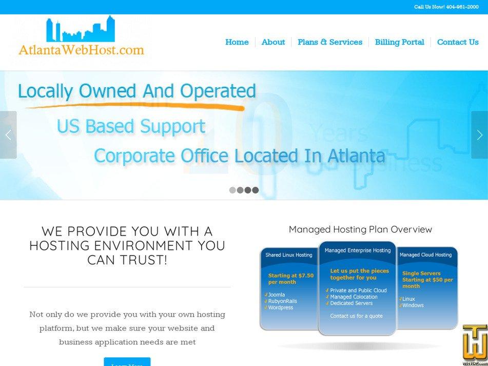 atlantawebhost.com Screenshot