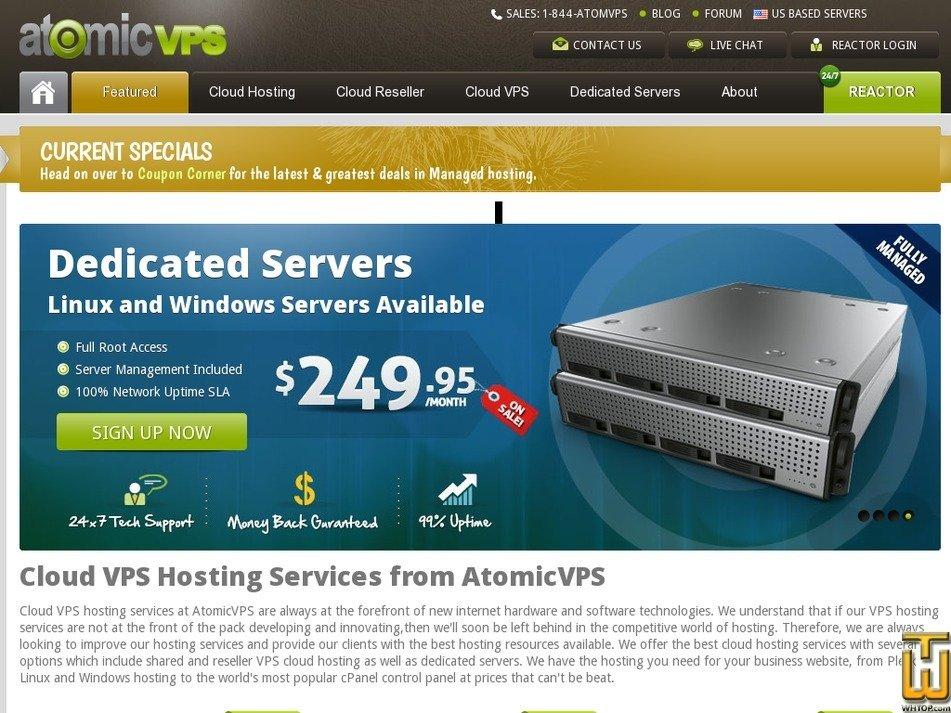atomicvps.com Screenshot