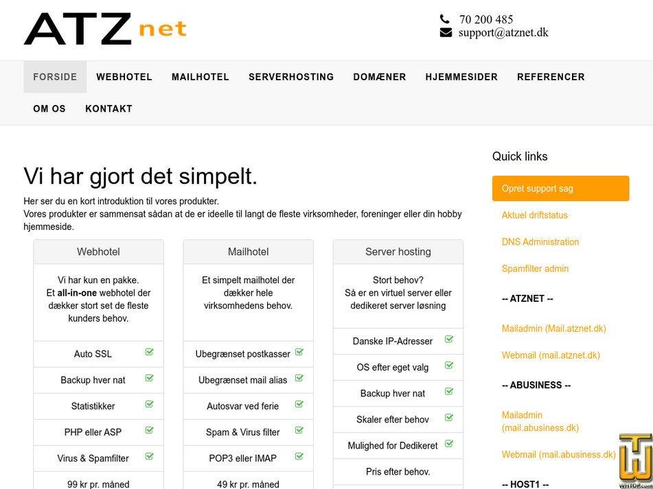 atznet.dk Screenshot