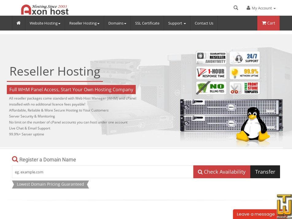 axonhost.com Screenshot