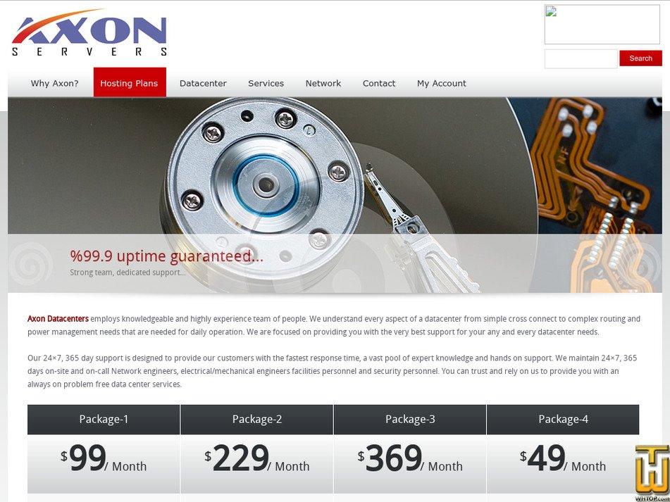 axonservers.com Screenshot