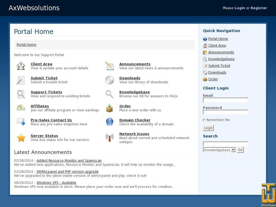 axwebsolutions.com Screenshot
