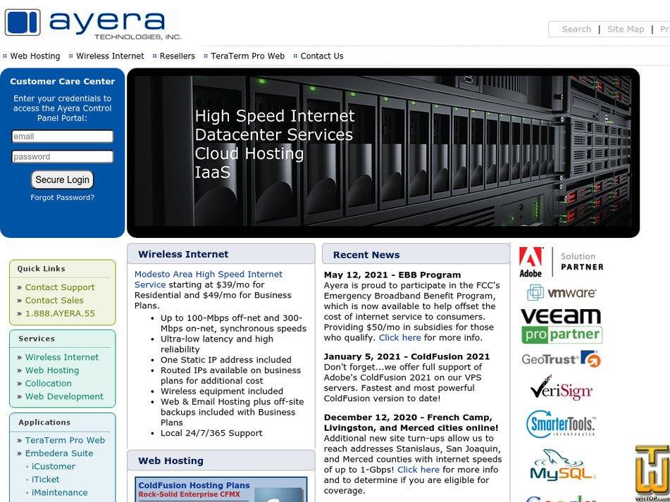 ayera.com Screenshot