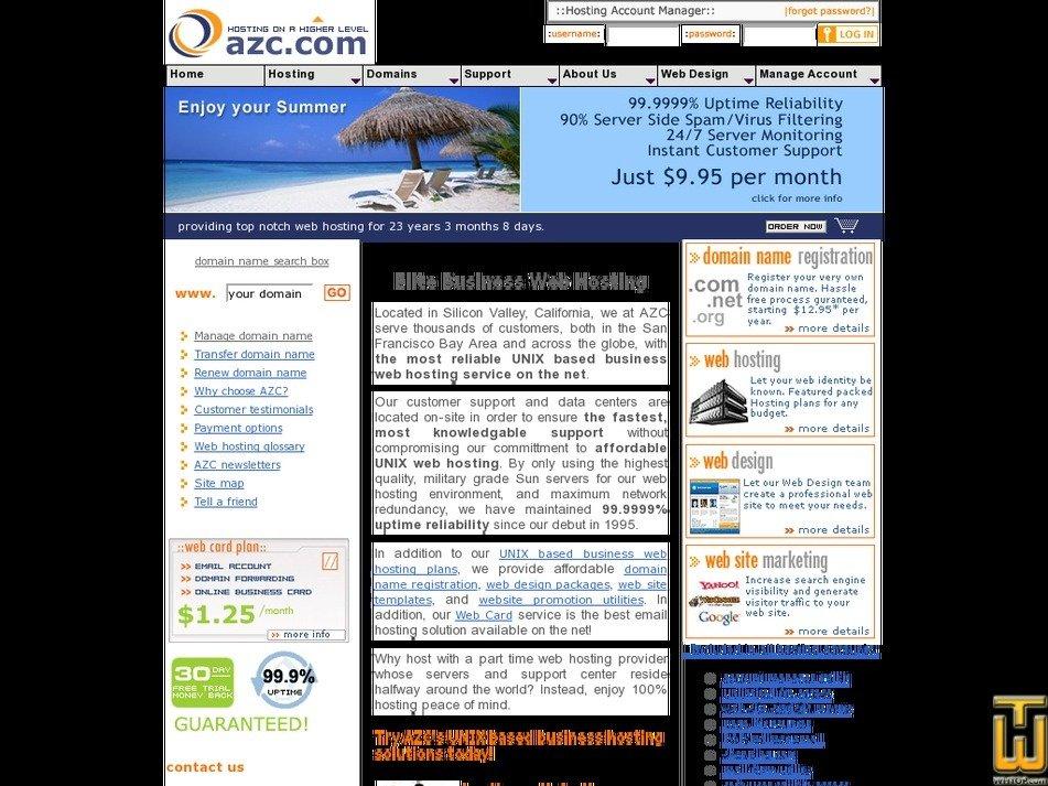 azc.com Screenshot