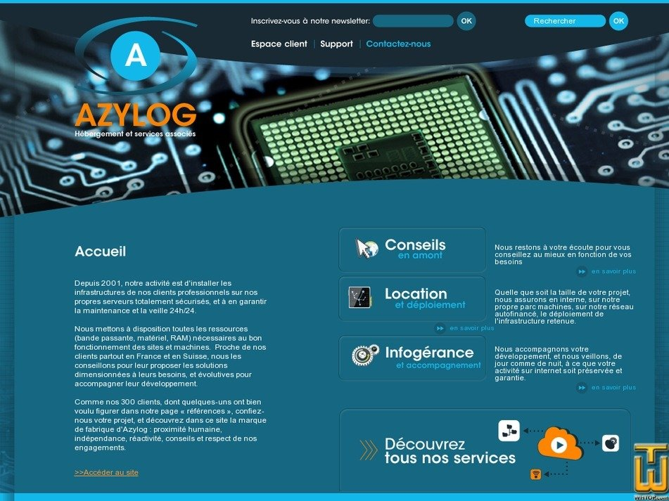azylog.net Screenshot