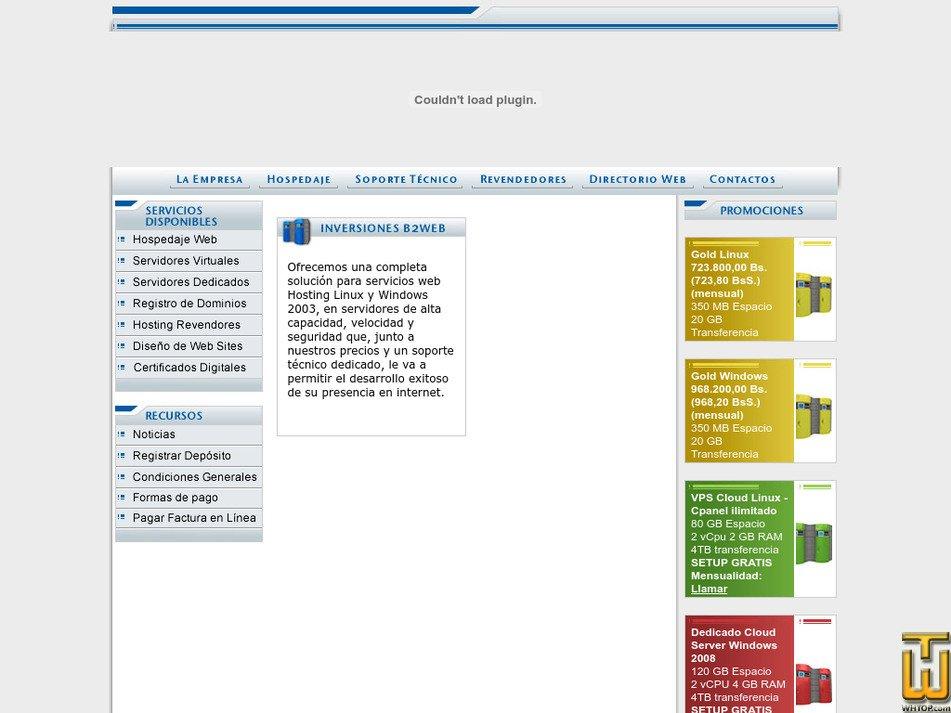 b2web.com.ve Screenshot