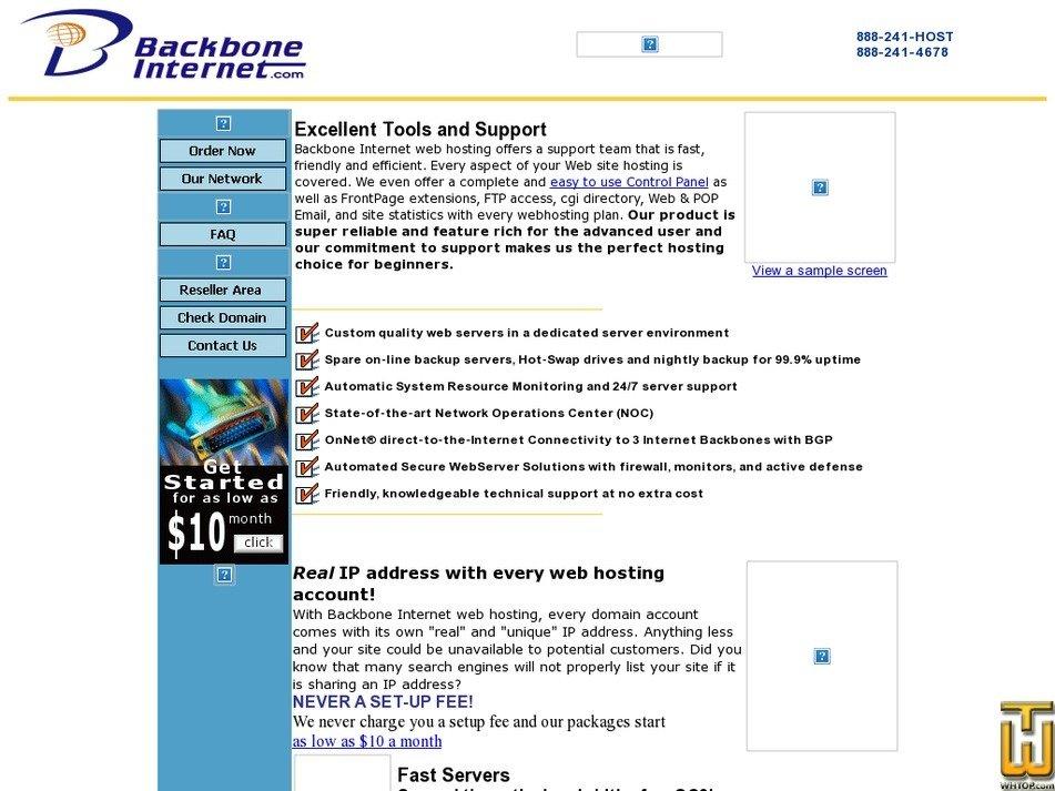 backboneinternet.com Screenshot