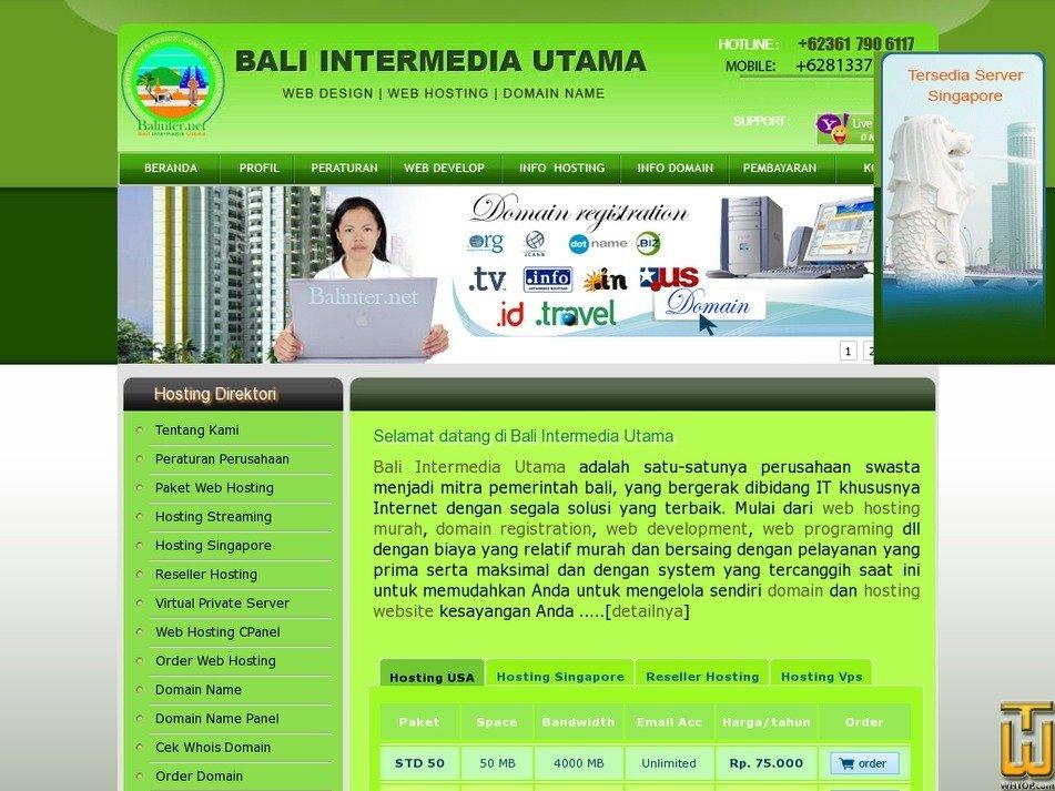 balinter.net Screenshot