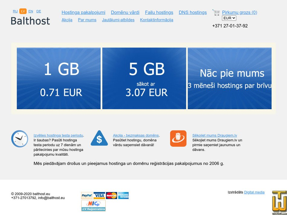 balthost.eu Screenshot