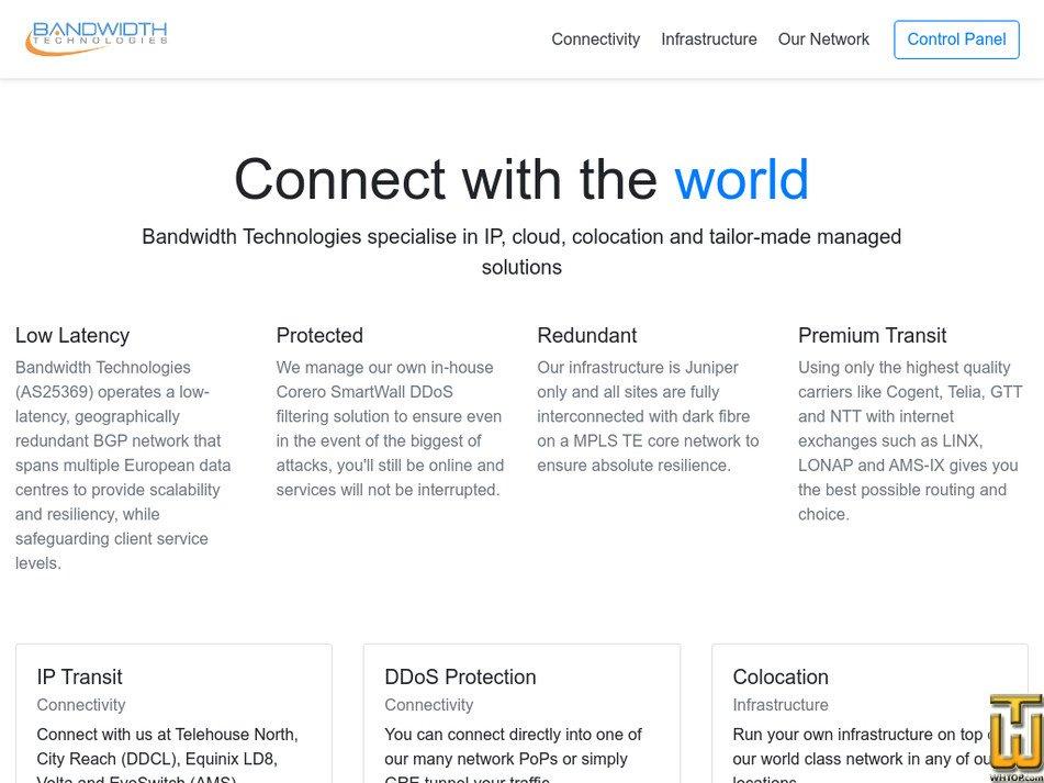 bandwidth.co.uk Screenshot
