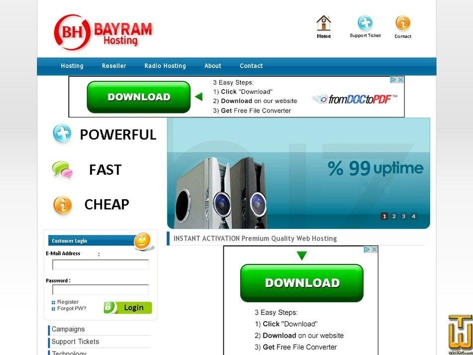 bayramhosting.com Screenshot