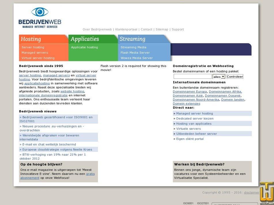 bedrijvenweb.nl Screenshot
