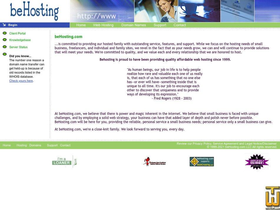 behosting.com Screenshot
