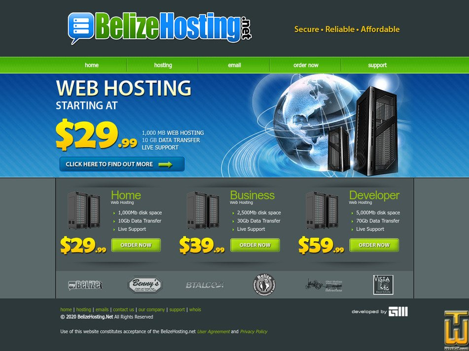 belizehosting.net Screenshot