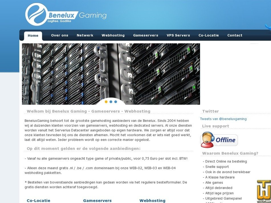 beneluxgaming.com Screenshot