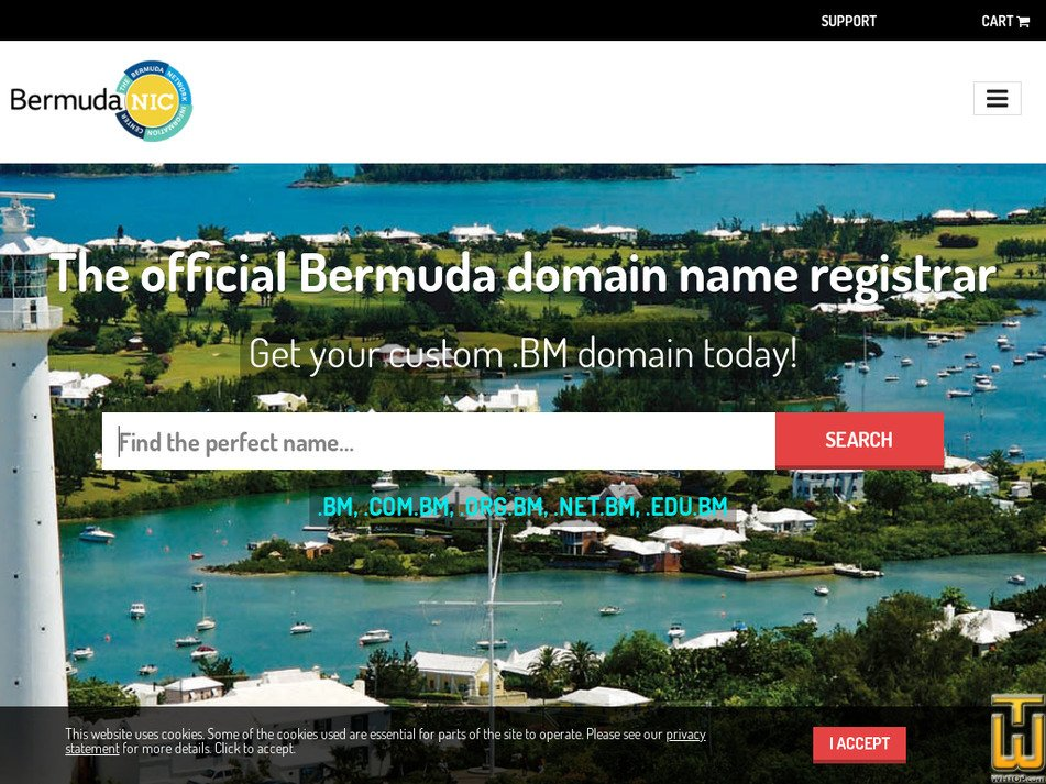bermudanic.bm screenshot