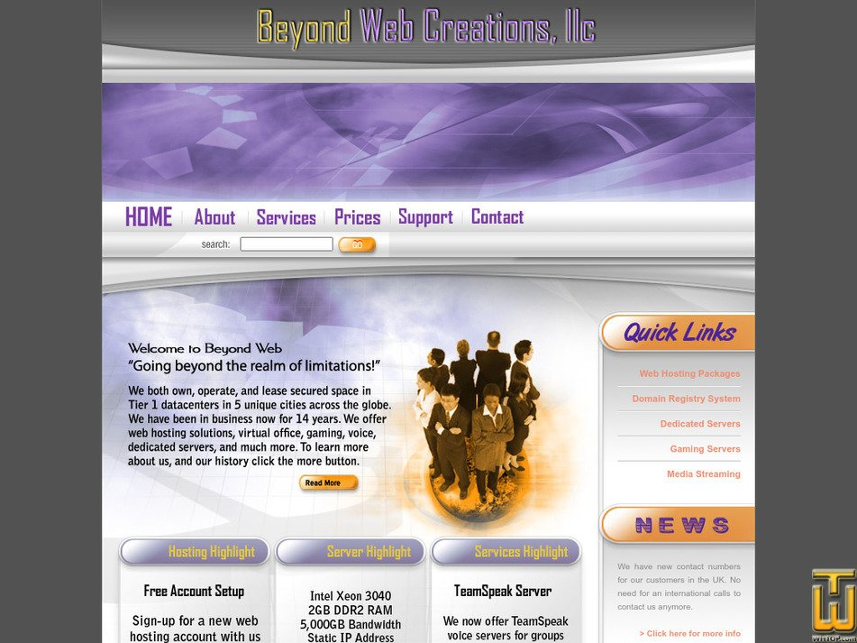 beyondweb.com Screenshot