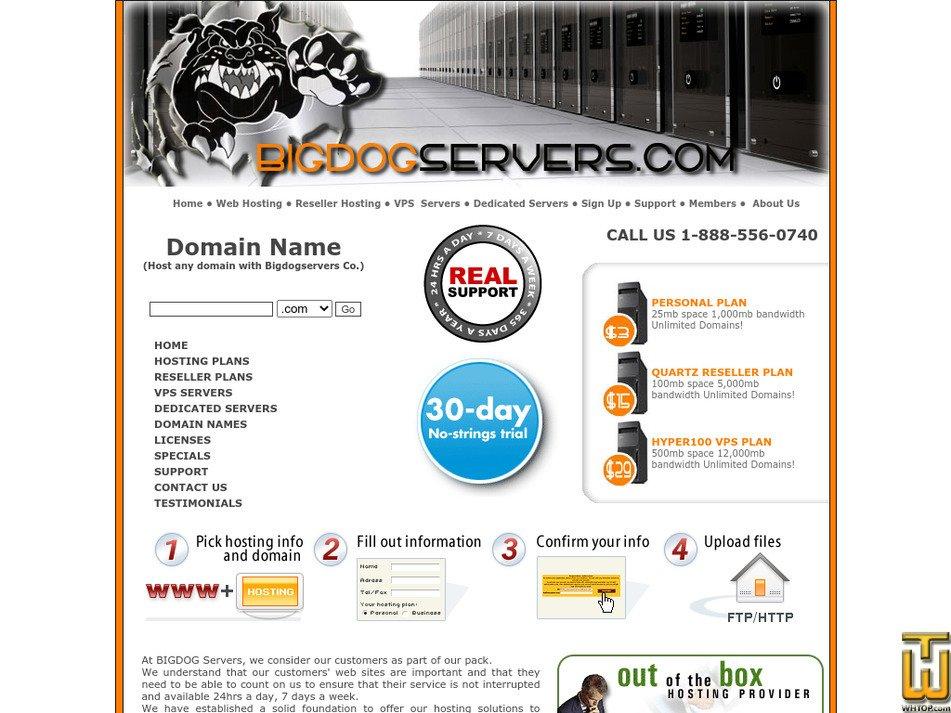 bigdogservers.com Screenshot