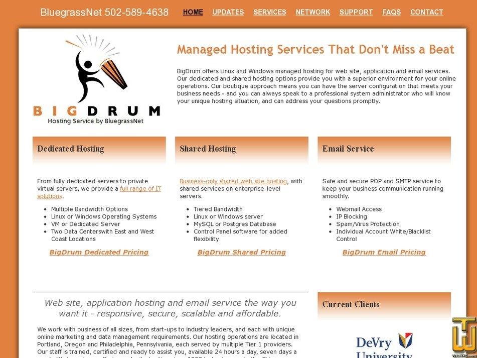 bigdrum.net Screenshot