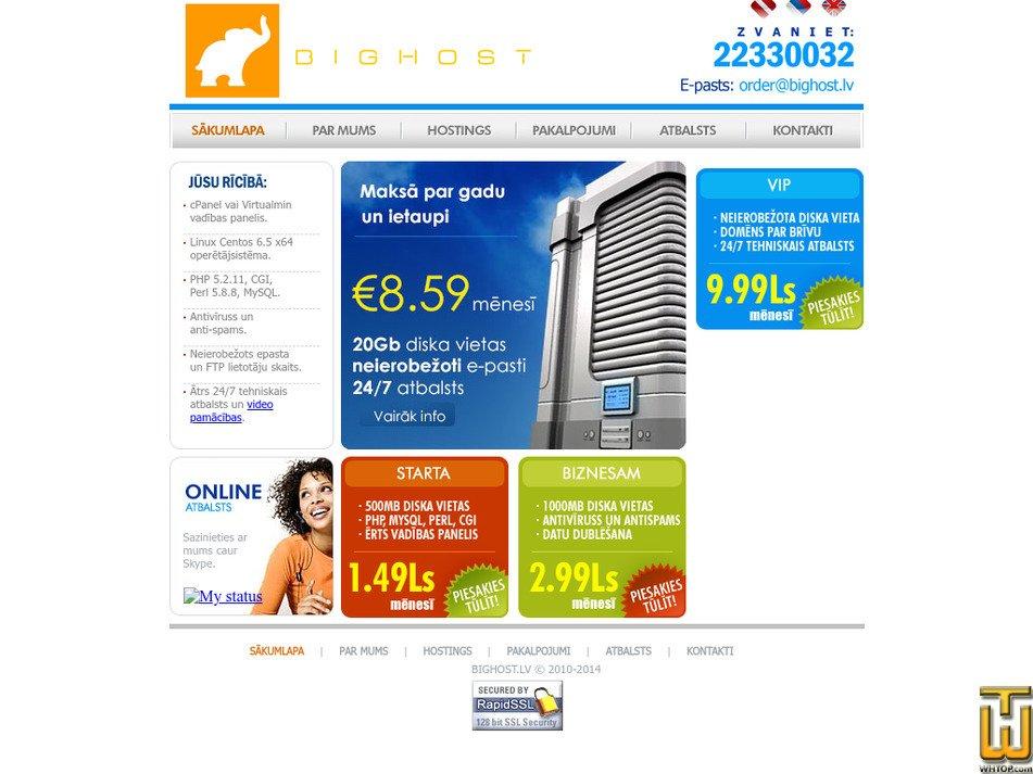 bighost.lv Screenshot