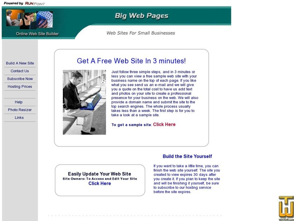 bigwebpages.com Screenshot