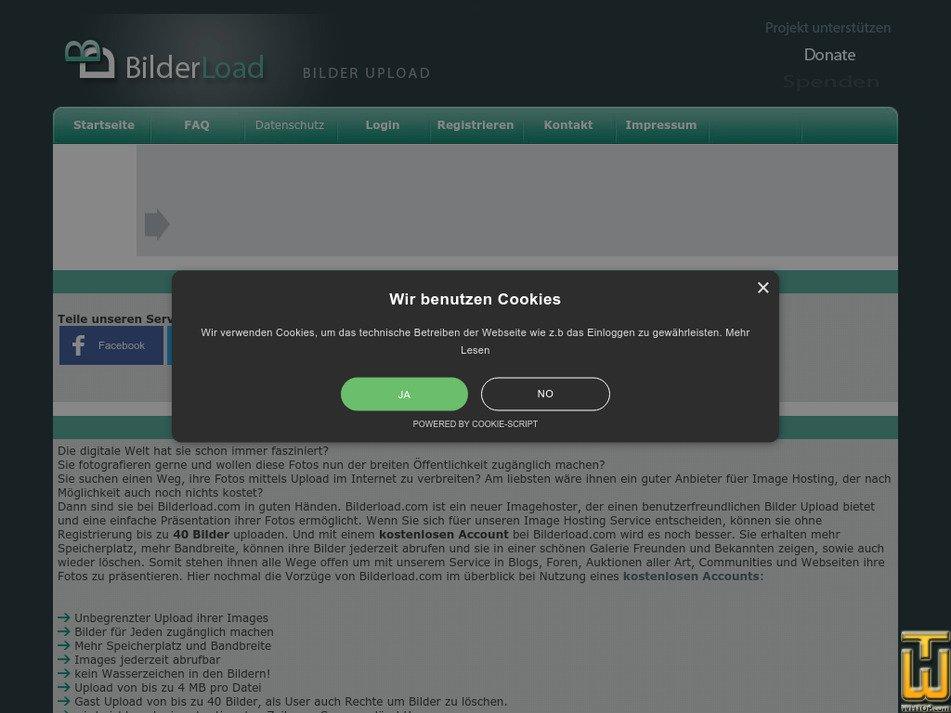 bilderload.com Screenshot